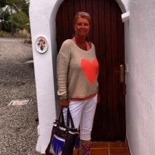 Ingang van het huis op Ibiza