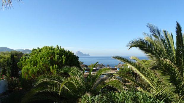 Ons uitzicht vanuit het huis op Es Vedra
