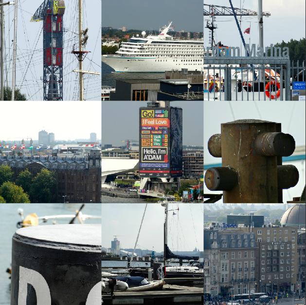 Collage omgeving IJ Amsterdam