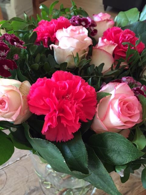 Gezellig even een bloemetje voor Yves en Christine meegenomen