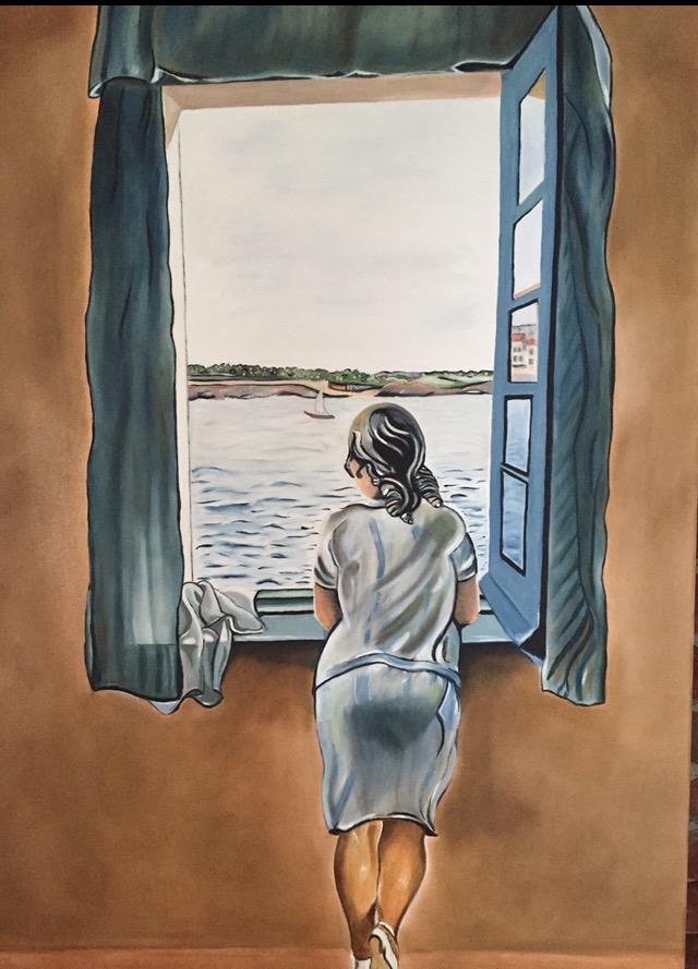 Het meisje bij het raam.