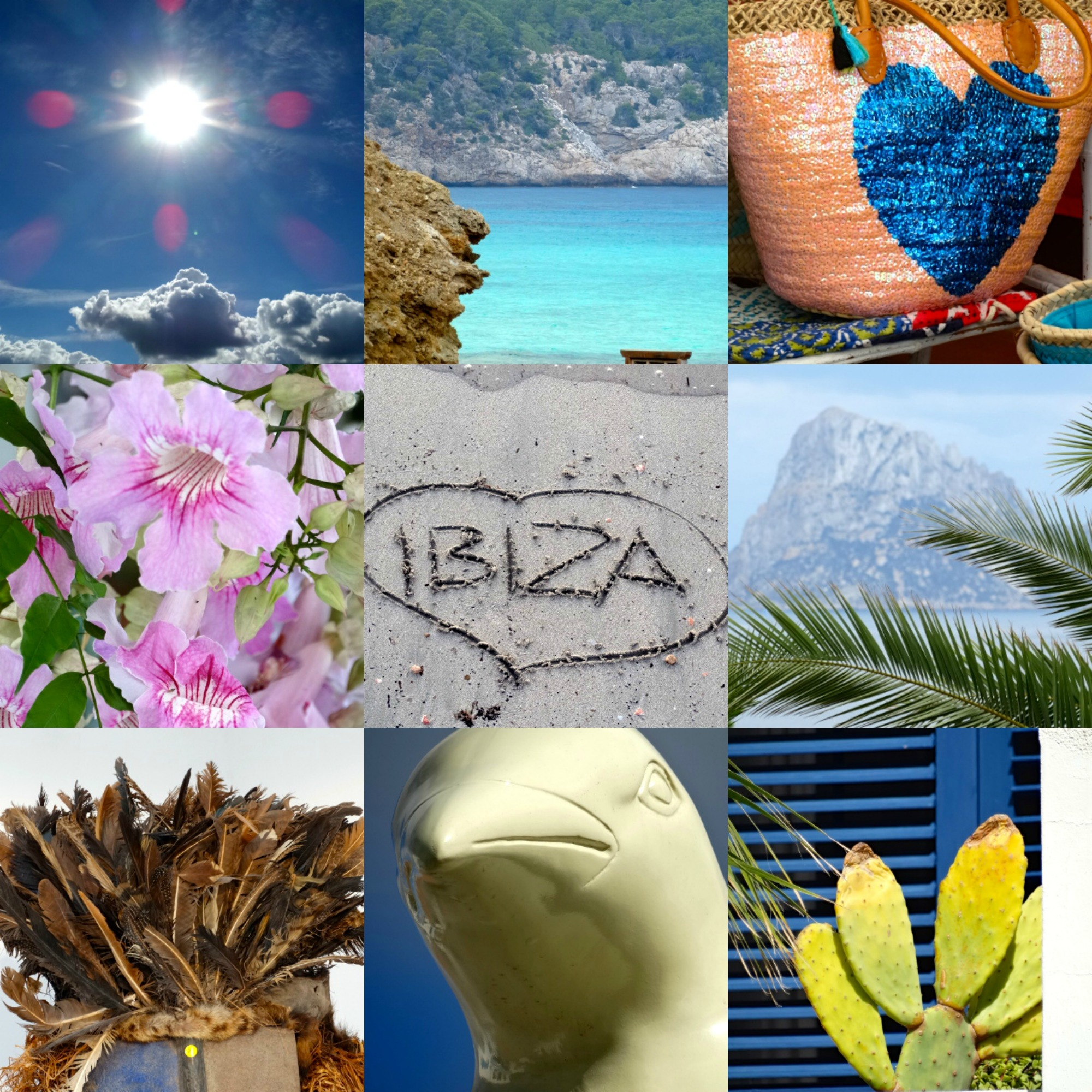 Ibiza. She is online